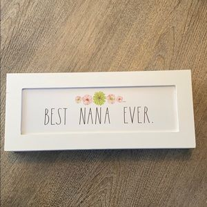 Rae Dunn BEST NANA EVER wood sign